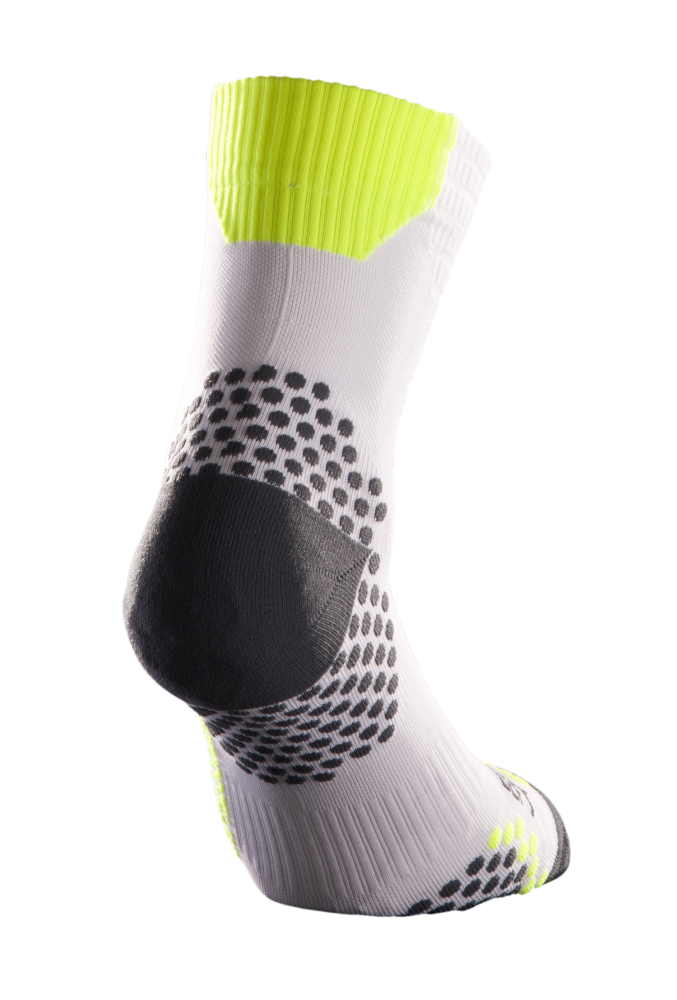 CALZA COMPRESSION CORTA - WHITE YELLOW [TN2005-0130]