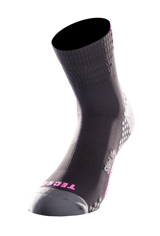 CALZA COMPRESSION CORTA - BLACK FUXIA [TN2005-0029]