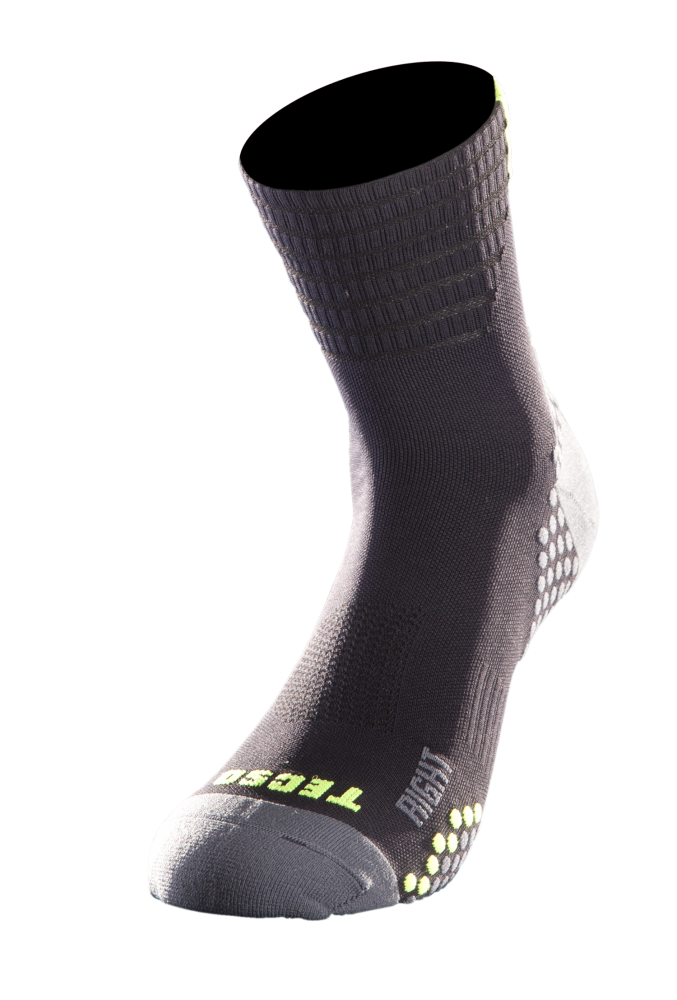 CALZA COMPRESSION CORTA - BLACK GREEN [TN2005-0030]