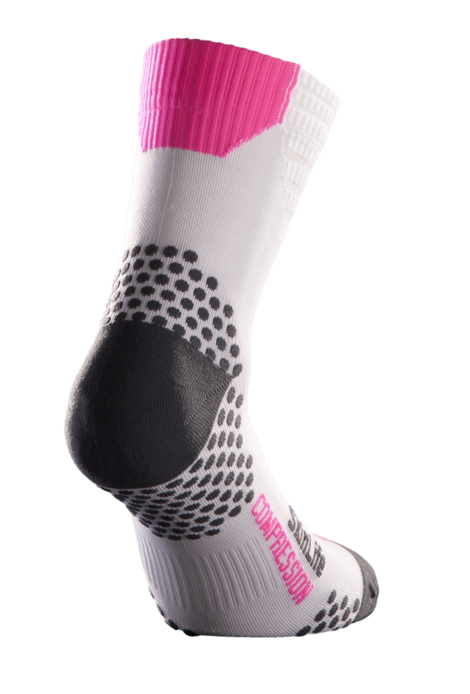 CALZA COMPRESSION CORTA - WHITE FUXIA [TN2005-0129]